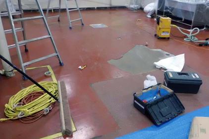 写真:洗浄室施工前