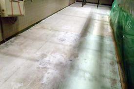 写真:塗床下地処理