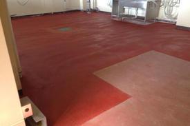 写真:実験室塗床工事
