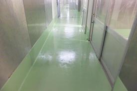 写真:菓子工場塗床工事