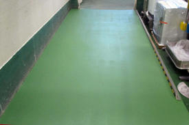 写真:塗床工事メタクリル樹脂MMA