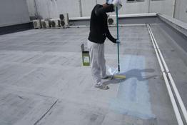 写真:屋上ウレタン防水工事