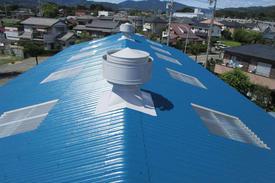 写真:倉庫屋根断熱塗装工事