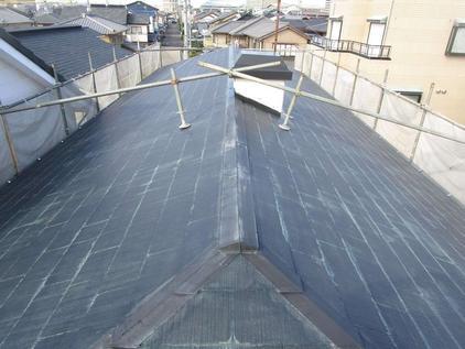 写真:住宅屋根塗装補修工事施工前