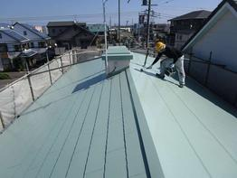 写真:住宅屋根塗装補修工事