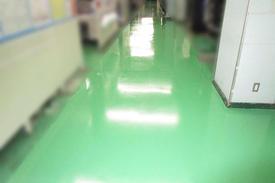 写真:精密機械工場通路塗床工事