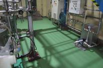 写真:食品工場MMA塗床工事