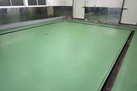 写真:食品工場(漬物工場)塗床工事