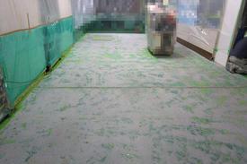 写真:自動車部品工場塗床工事下地処理工事