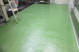 写真:医薬品工場水系硬質ウレタン塗床工事