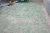 写真:医薬品工場水系硬質ウレタン塗床工事下地処理