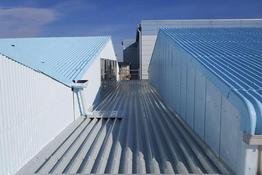 写真:工場折半屋根塗装工事
