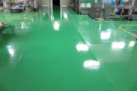 写真:工場内通路変更塗床工事