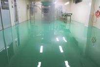 写真:食品工場塗床工事厚膜エポキシ樹脂