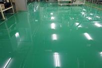 写真:自動車部品工場塗床工事