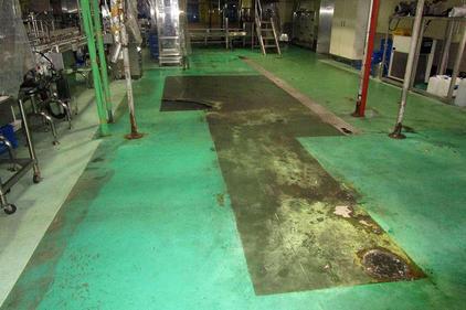 写真:飲料工場 メタクリル樹脂 塗床工事 牛乳 乳製品