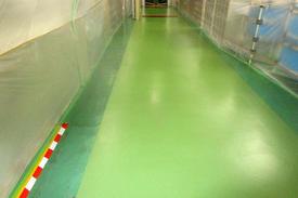 写真:工場 メタクリル樹脂 MMA 塗床工事 塗り床工事 床塗装 床改修 施工例 防塵床