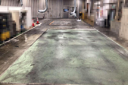 写真:工場 エポキシ樹脂 塗床工事 塗り床工事 床塗装 床改修 施工例 防塵床 施工前