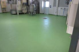 写真:工場 メタクリル樹脂 塗床工事 塗り床工事 床塗装 床改修 施工例 防塵床 MMA
