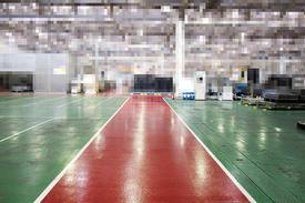 写真:工場 エポキシ樹脂 塗床工事 塗り床工事 床塗装 床改修 施工例 防塵床