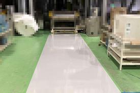 写真:紙製品工場 エポキシ樹脂 塗床工事 塗り床工事 床塗装 床改修 施工例 防塵床
