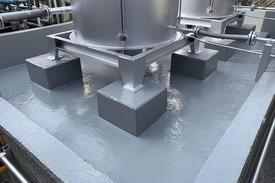 写真:タンク塗装 防油堤防水塗装工事
