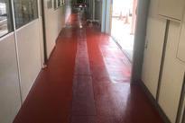 写真:工場 エポキシ樹脂 塗床工事 塗り床工事 床塗装 床改修 施工例 防塵床 塗り替え